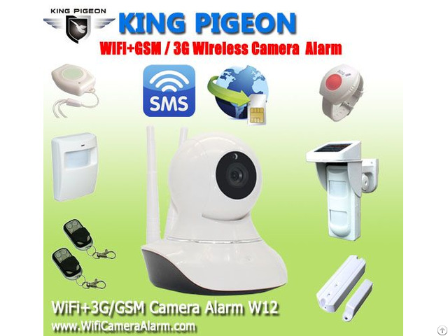 Gsm 3g Wifi Camera Alarm With 433mhz = All In One W12