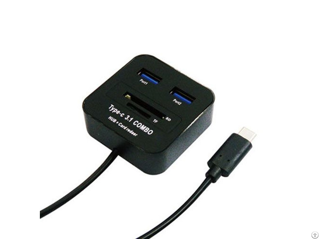 Type C To Usb Hub With Sd And T F Card Reader Combo