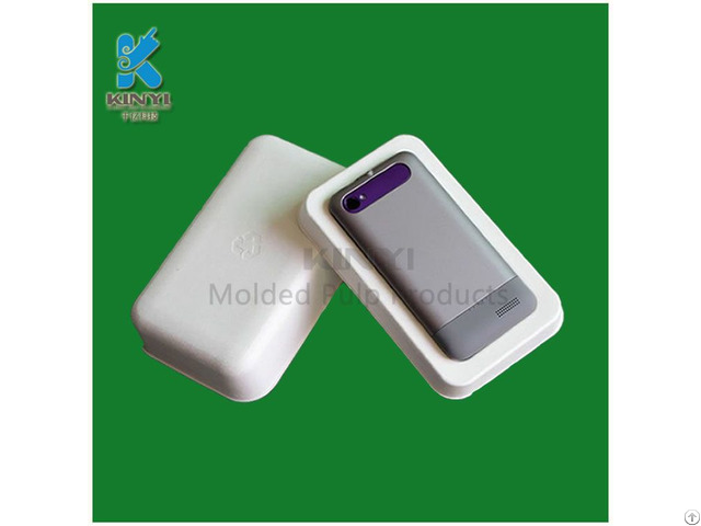 Bagasse Pulp Mold Mobile Phone Packaging Innserts
