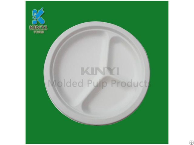 Bagasse Pulp Tray Food Container Dishes Environmental And Biodegradable