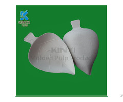 Healthy Food Packaging Leaf Shape Cake Carrier Container Environmental And Biodegradable