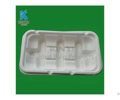Bagasse Pulp Tray Disposable Food Packaging Frozen Meat Container