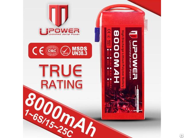 Upower Lipo Battery Pack 14 8v 8000mah For Uav Drone Multirotor