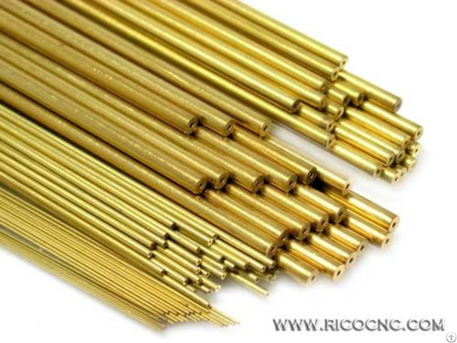 Single Hole Tubing Edm Brass Tube Electrode Channel