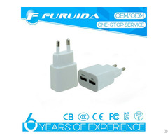 New Dual Usb 5v 2 1a Mobile Phone Charger