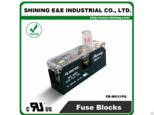 Fb M031pq 10x38 600v 30a 1 Pole Midget Fuse Block