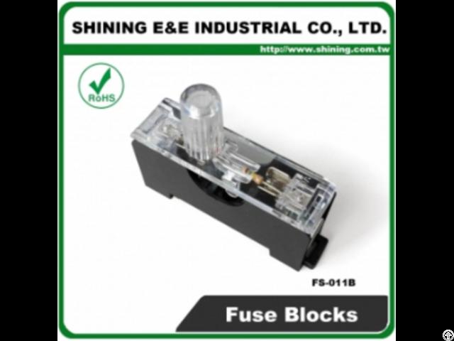 Fs 011b 6x30 600v 10a 1 Pole Midget Fuse Block