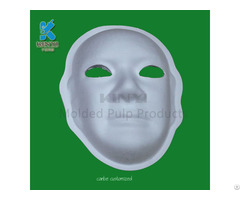 Molded Paper Pulp White Party Masks