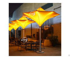 Outdoor Patio Decorated Tulip Umbrella
