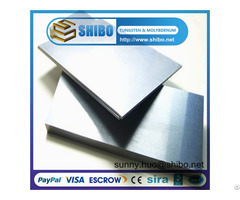 High Purity And Density Tungsten W Sheet Plate For Sale