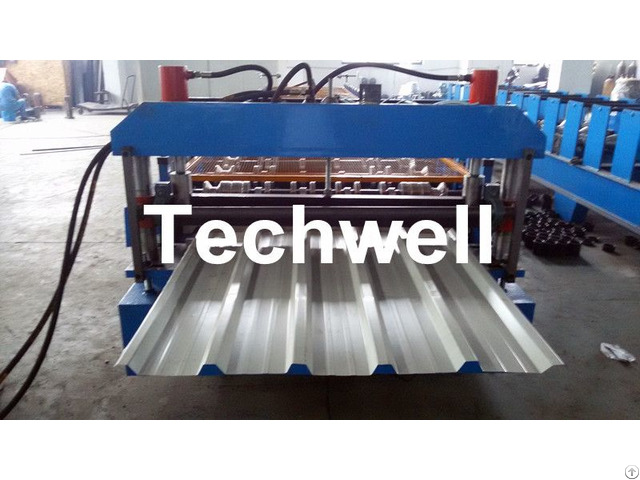 High Speed Steel Roofing Sheet Roll Forming Machine With Flying Cutting