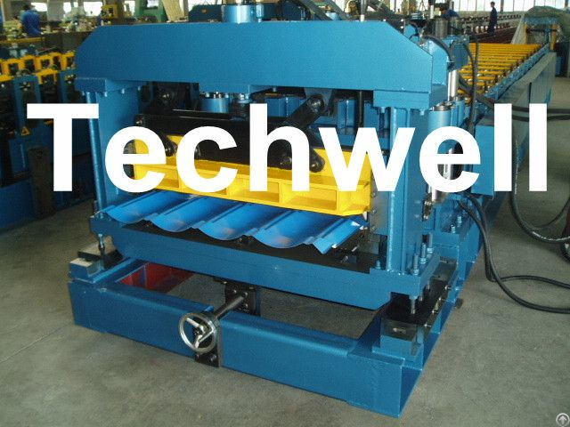 Minimalist Metal Roof Tile Roll Machine With 18 Forming Stations