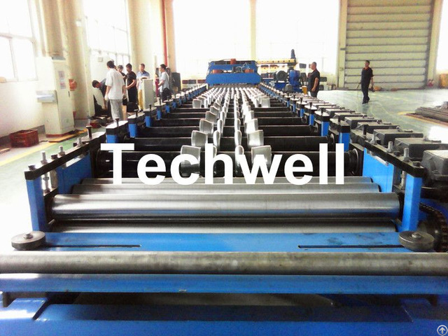 Galvanized Steel Silo Corrugation Machine With 18 Forming Stations