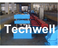 Seven Rollers Leveling Expressway Highway Guardrail Roll Forming Machine For Crash Barrier Tw W312