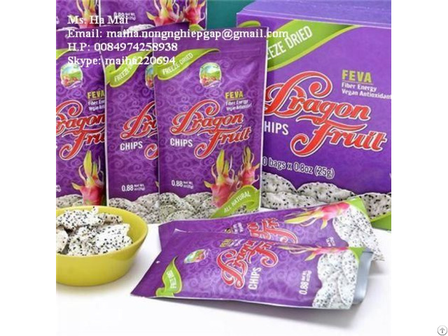 Freeze Dried Dragon Fruit Chips Snack Fruits From Vietnam
