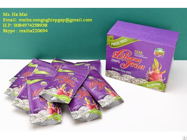 Freeze Dried Dragon Fruit Chips Dry Pitaya From Vietnam