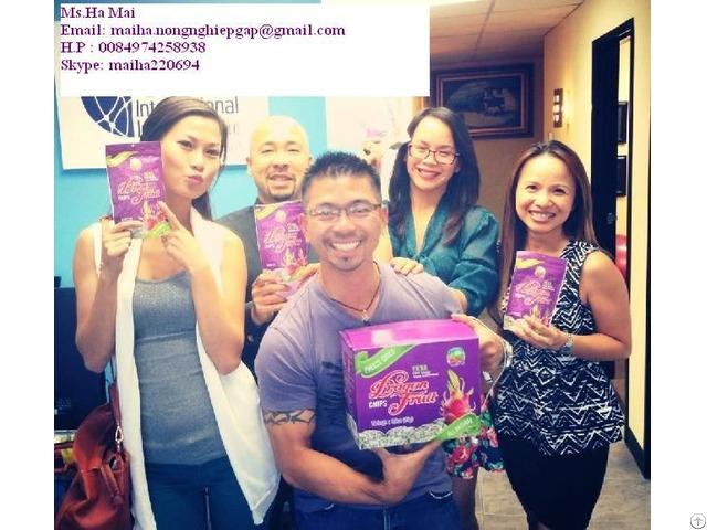Freeze Dried Dragon Fruit Chips Dry Pitaya From Vietnam Sugar Free