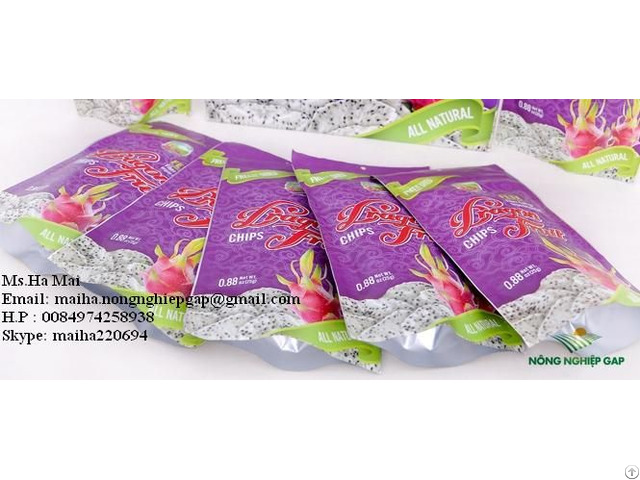 Freeze Dried Dragon Fruit Chips Dry Pitaya From Vietnam Sugar Free High Quality