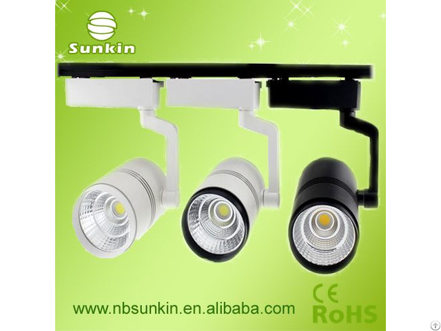 Factory Price 2 Years Warranty White Fin Indoor Lighting 30w Cob Led Track Lights