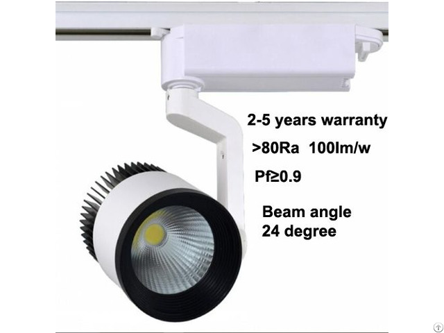 Black White 2 3 4 Wires 20w 30w 40w Ra90 Cob Led Track Light