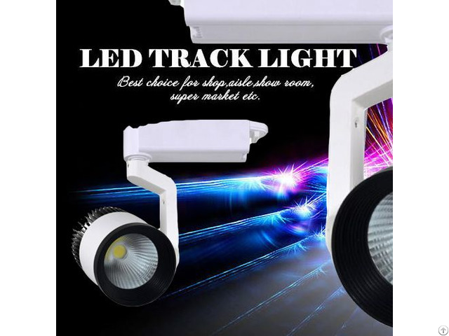 White And Black Color Cob 15w 20w 30w Led Track Spot Light
