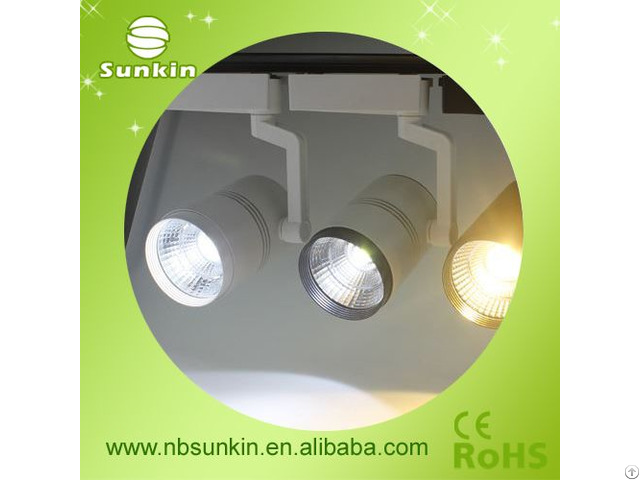 Shop Showcase Lighting 20w 30w 40w White Cob Led Track Light