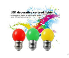 1w 0 5w 2years Warranty Ce Rohs Certificate Pc Material Led G45 Color Bulb