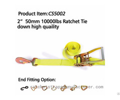 Cs5002 2 50mm 10000lbs Ratchet Tie Down High Quaility