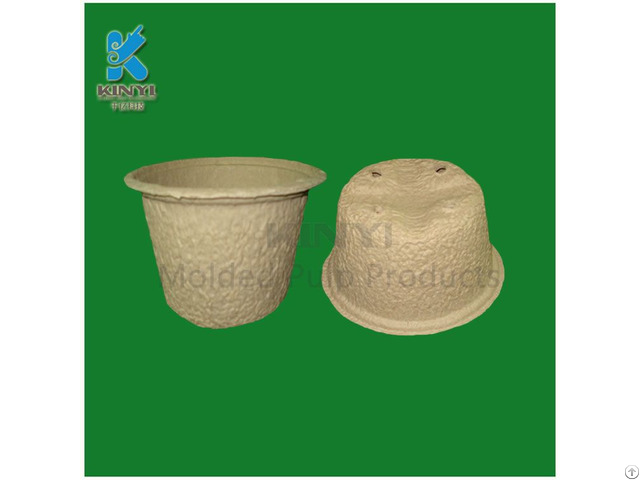 Recycled Paper Pulp Mold Nursery Pots Flower Planters Environmental And Biodegraedable