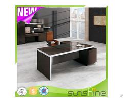 Contemporary Design High Tech Bs Z2090 With Aluminum Edge Banding Wooden Executive Office Desk