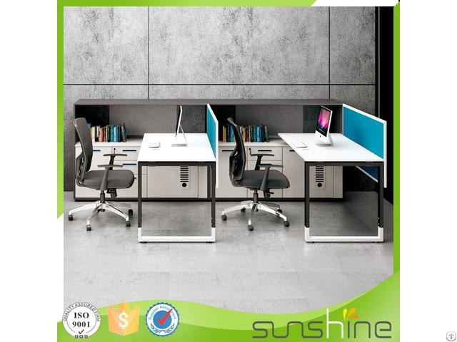 Modern Office Furniture F Shape 2 Seats Screen Staff Workstation Xfs M1830