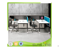 Modern Office Furniture F Shape 2 Seats Screen Staff Workstation Xfs M1830