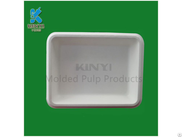 Custom Disposable Wet Pressing Food Packaging Paper Trays