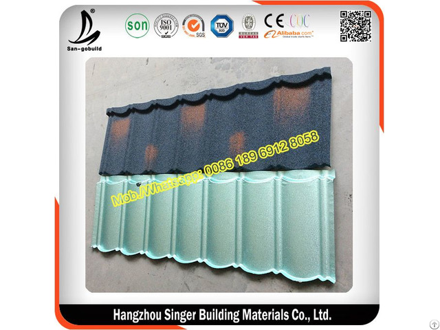 Sgb Stone Coated Metal Roofing Tiles