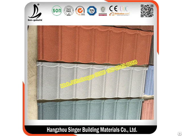 Sgb Gavalume Stone Coated Steel Roofing Tiles