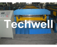 Big Wave Corrugated Roof Roll Machine Galvanised With 18 Forming Station