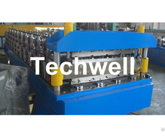 Eigtheen Forming Stations Double Layer Roll Machine For Ibr Corrugated Sheets With Plc