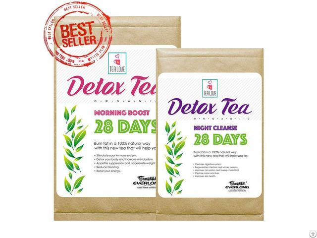 100% Organic Herbal Detox Tea Slimming Weight Loss 28 Day Program