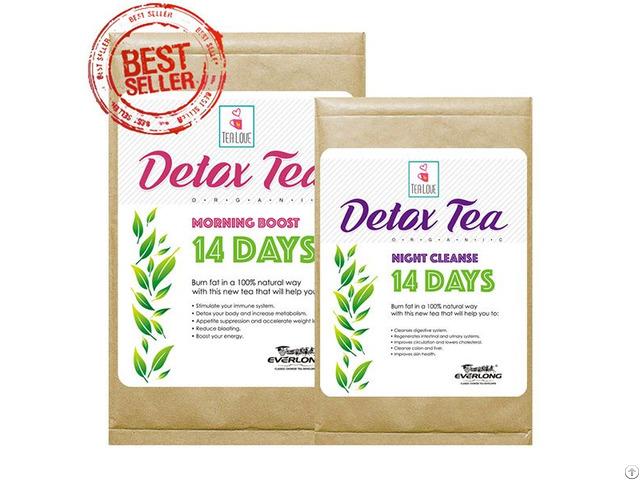 100% Organic Herbal Detox Tea Slimming Weight Loss 14 Day Program