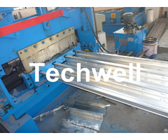Galvanized Steel Floor Deck Roll Forming Machine For Decking Sheets