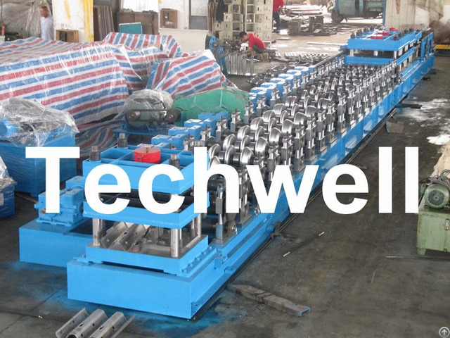 W Beam Guardrail Forming Machine For Crash Barrier