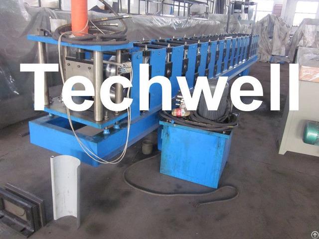 Hydraulic Cutting Plc Control Half Round Gutter Machine For Rainwater