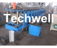 Hydraulic Cutting Plc Control Half Round Gutter Machine For Rainwater