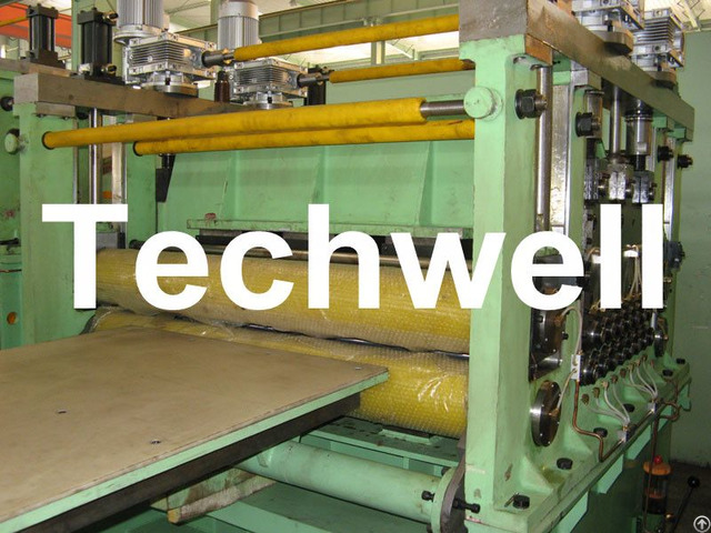 Double Support Uncoiler Stainless Steel Cut To Length Machine Line