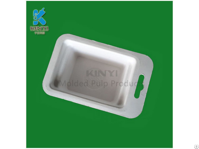 Eco Friendly Paper Pulp Process Electronic Packaging Tray