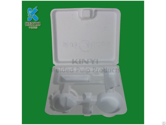 Electronic Protective Packaging Box Bagasse Pulp Mold Environmental And Biodegradable