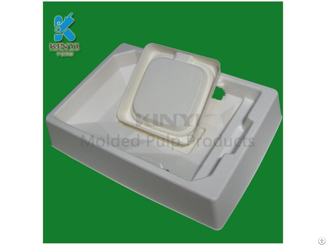 Tray Type Mateiral Environmental Paper Packaging For Electronic