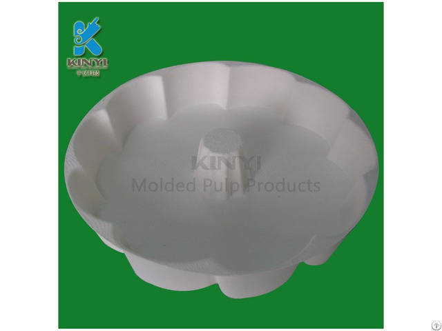 Pure White Color For Electronic Packaging Tray Environmental And Biodegradable
