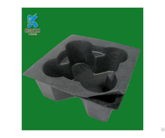 Bagasse Pulp Mold Electronic Inner Packaging Tray Eco Friendly