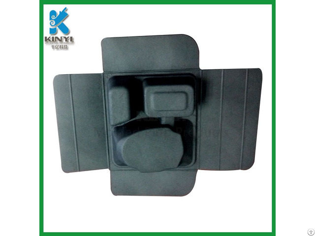 Eco Friendly Wet Pressing Black Paper Mache Box Packaging